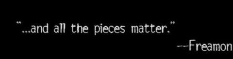 pieces matter