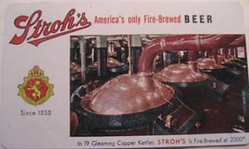 Strohs Beer USA 1958